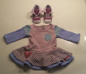 American Girl School Stripes Dress Outfit