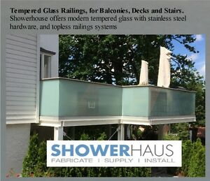 Tempered Glass Railings, Railings for Balconies, Decks and Stair