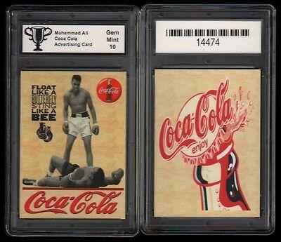 MUHAMMAD ALI Coca Cola Type 1 Advertising PROMO CARD GRADED GEM MINT 10