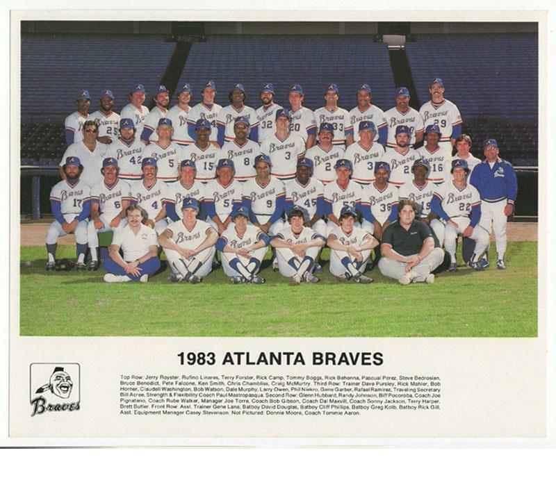 1983 Atlanta Braves Team Color Photo - 8x10  Phil Niekro Dale Murphy Excellent