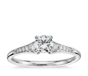 0.30 Carat GIA Certified ROund Diamond Engagement Ring