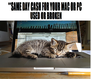 **We pay Same day Ca$h for your Mac or PC, new, used or broken $
