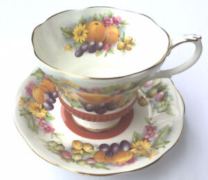 Royal Albert Country Fayre Series Dorset Tea Cup and Saucer.