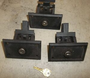 3 - TRUCK TOOL BOX  LOCKS WITH KEY POLY TYPE BOXES