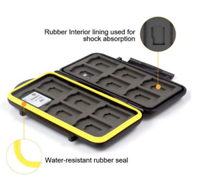 Water-resistant SD and Micro SD card case