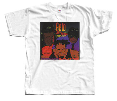 Geto Boys - Uncut Dope: Geto Boys Best, album cover, T-SHIRT DTG (WHITE)