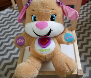 Fisher-Price Laugh & Learn Smart Stages Puppy Sis FRENCH edition