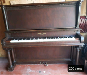 Mason & Risch Upright Antique Piano