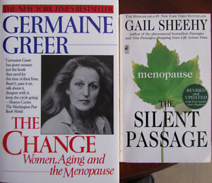 Two books on/by women - authors Germaine Greer & Gail Sheehy