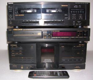 Stereo receiver, CD player, double cassette deck