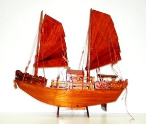 Collectable Decorative Wooden Model Toy - Traditional Sail Boat/Ship 40cm