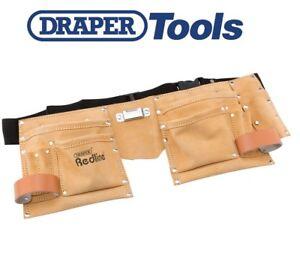 Draper Redline 10 Pocket Carpenters Builders Tool Nail Double Pouch Belt