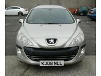 08 Reg PEUGEOT 308 ESTATE 12 MONTH MOT