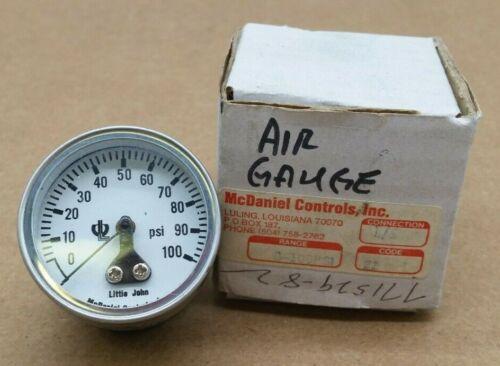 McDaniel Controls Little John Pressure Gauge 0-100 psi