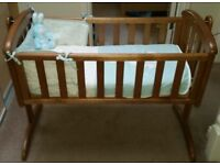 Baby Crib - Good Condition with Mattress
