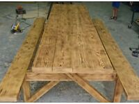 Bench pine wood