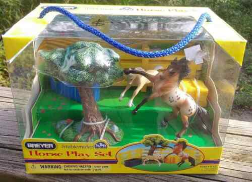 OF Breyer SM Stablemate Horse Play Set Andalusian Stallion & Scrambling Foal