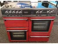 e513 red lsieure 100xm range cooker comes with warranty can be delivered or collected