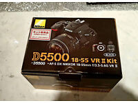 CAMERA NIKON D5500 BRAND NEW UNUSED WITH 18-55 VR II KIT LENS