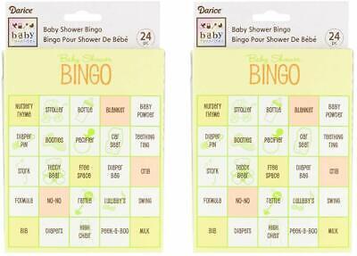Baby Shower Bingo Game ((Pack of 2) Baby Shower Bingo Game, 48 Total)