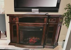 NEW* EMBERHEARTH ELECTRIC FIREPLACE 151586868 MEDIA TV STAND 70 L x 20 D x 42.4 H EMBER HEARTH