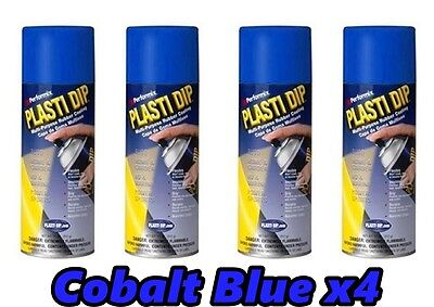 Performix Plasti Dip Cobalt Blue Light Blue 4 Pack Spray 11oz Aerosol Cans