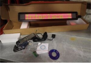 Scrolling LED message sign 24""