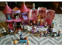 Happyland castle with 32 figures(incl-royal family), plus furniture and carriages