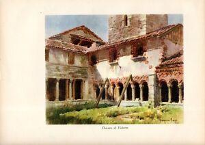 Stampa-antica-CHIOSTRO-DI-VOLTORRE-Gavirate-Varese-1932-Old-print