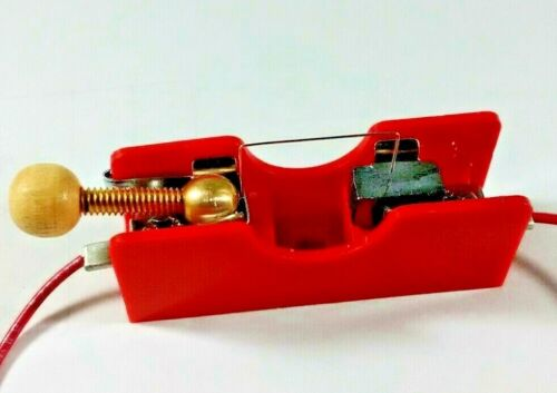 Red Base Crystal Radio Diode Detector Stand with Galena Crystal Cats Whisker-CW3