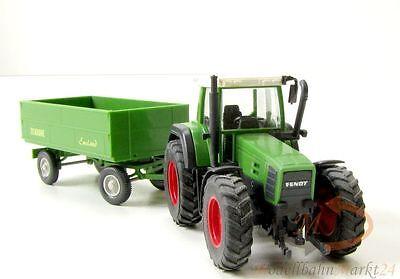 WIKING 3790129 Fendt Traktor und Krone Transport-Anhänger in grün Maßstab 1:87 (Schwarze Und Weiße Krone)