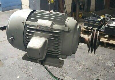 Us Electric 20 Hp Ac Electric Motor 460 Vac 3 Phase 1760 Rpm 286u 1 58 Shaft