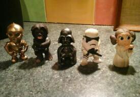 Set of five little starwars figures not official