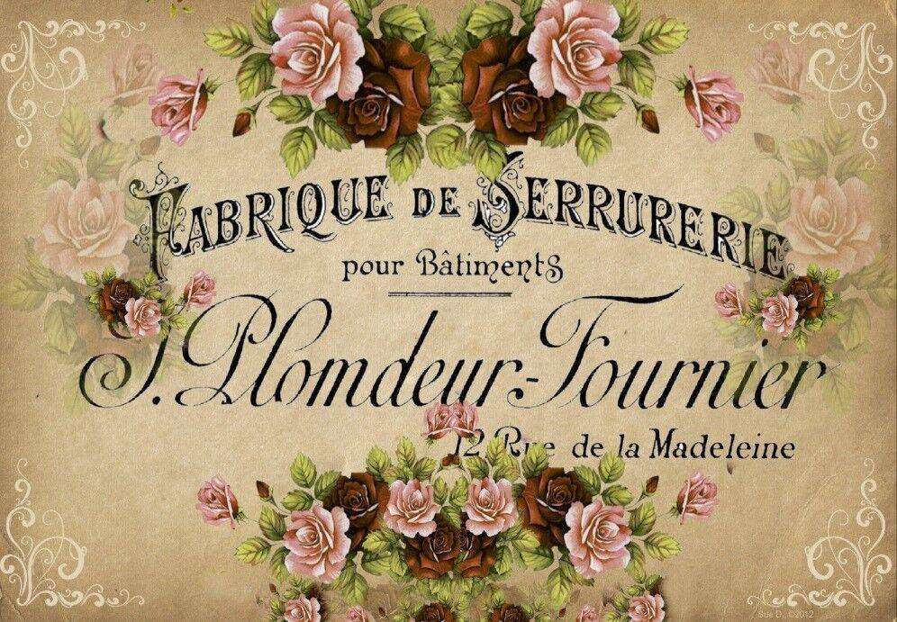 Decoupage-Serviettentechnik-Softpapier-Vintage-Nostalgie-French-12096