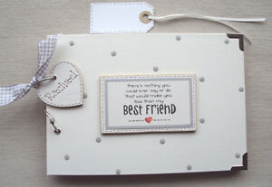 PERSONALISED  BEST FRIEND...  .A5 SIZE  PHOTO ALBUM/SCRAPBOOK/MEMORY BOOK.