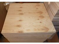 10 Pieces of NEW 18mm Premium Quality Pine Exterior Plywood 29in x 26½in (740mm x 680mm)