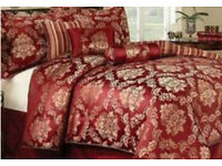 Double bed Luxury quilted throw & valance, 2x pillow cases+ 3 scatters cusions over £100 for set