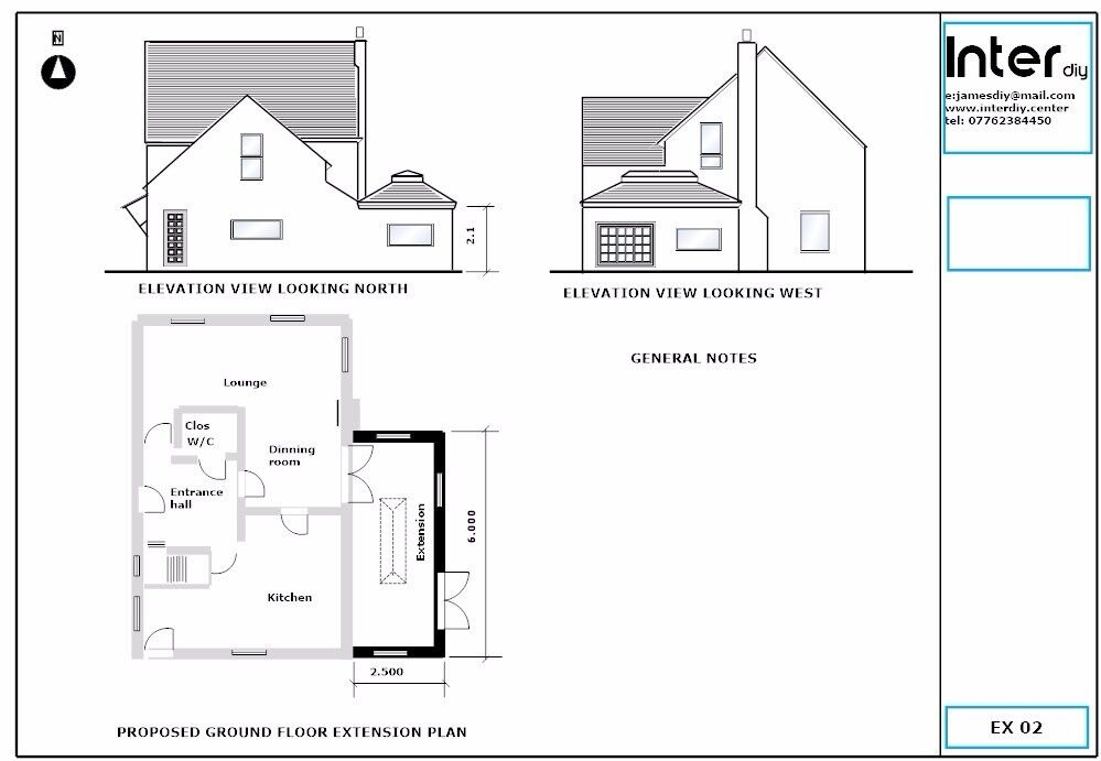 Online drawings and plans for building applications | in Poole ...