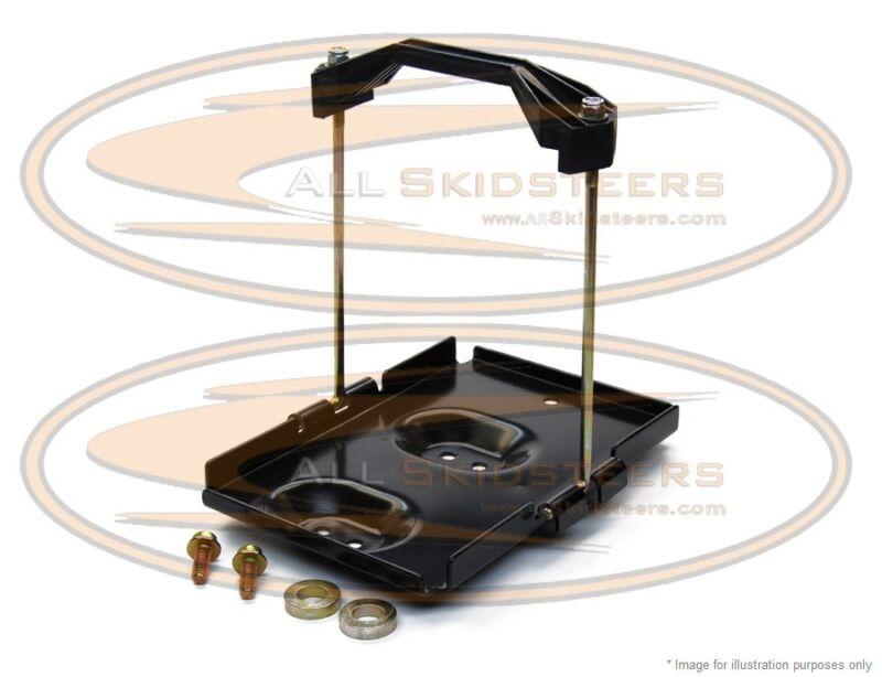 For Bobcat T110 Battery Tray Hold Down Kit Bracket Skid Steer Loader Pan Plate