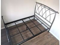 designer double bed with mattress can deliver
