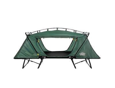 Kamp Rite DTC443 Aluminum Frame Waterproof Oversize Tent Cot With Rain Fly Green