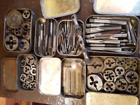 Vintage English Imperial Engineering Taps and Dies - Approx 170 pieces BSF BSW etc