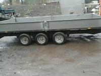 Ifor williams dripside trailer 14x6.6 with crane no vat