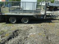 Ifor williams plant trailer with mesh sides 10x6 no vat