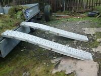 Galvanised light wiight trailer ramps for lawn mowers no vat