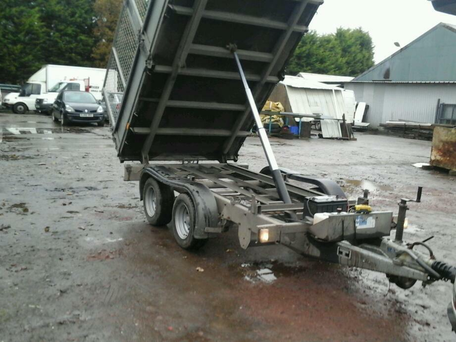 Ifor williams electric tipping trailer with m3sh sides 10x5.6 2011 no at
