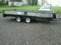 Ifor williams dropside trailer 14x6.6 with ramps no vat