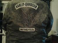 Mens Harley Davidson leather Biker Jacket