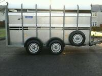 Ifor williams live stock trailer with eassey looad sheep decks 12x6 no vat