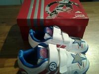Avengers Captain America Adidas trainer's size UK 11 1/2